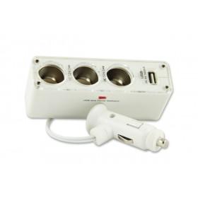 3-fach KFZ-Verteilerdose mit USB