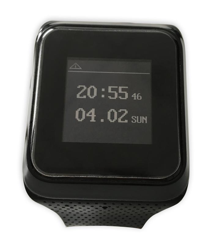 Die Uhrzeit-Anzeige lässt sich per Knopfdruck als Digitalanzeige aufrufen.