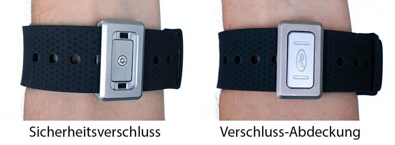 Sicherheitsverschluss des Armbands
