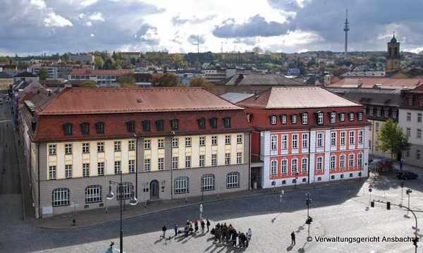 Luftaufnahme des Verwaltungsgericht Ansbach